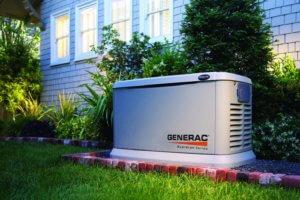 generac home generator outside